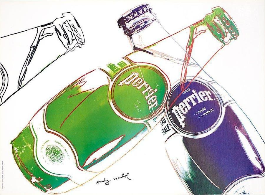 Andy Warhol, Perrier White, 1983. Foto: Artsnap