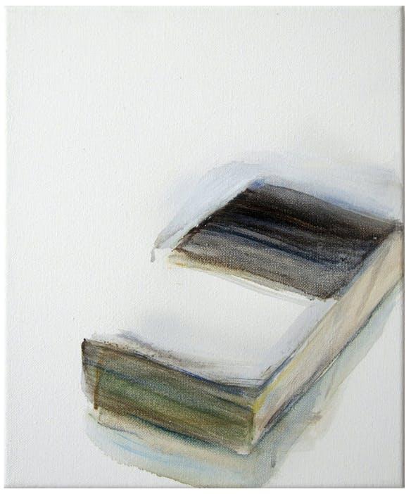 """Angela Stauber, """"Buch 5"""", Öl/Lwd., 2013"""