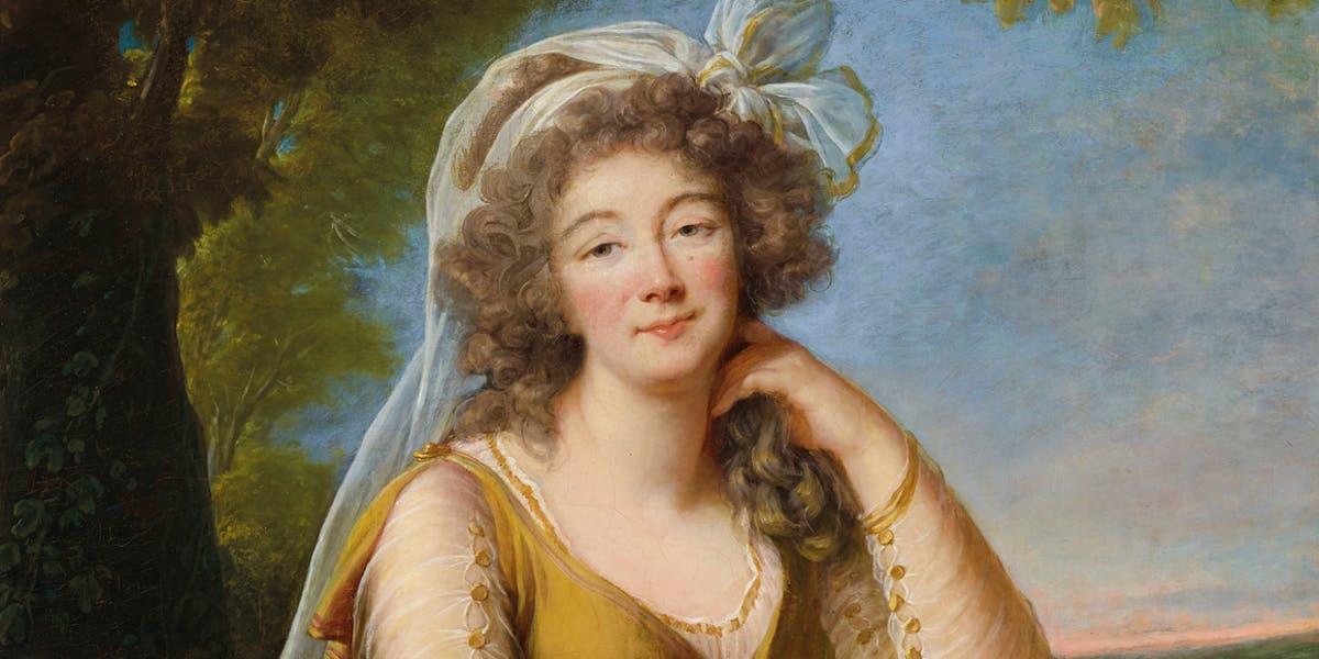 Élisabeth Vigée Le Brun, Portrait de Madame du Barry (détail), 1789, huile sur toile, image © Christie's