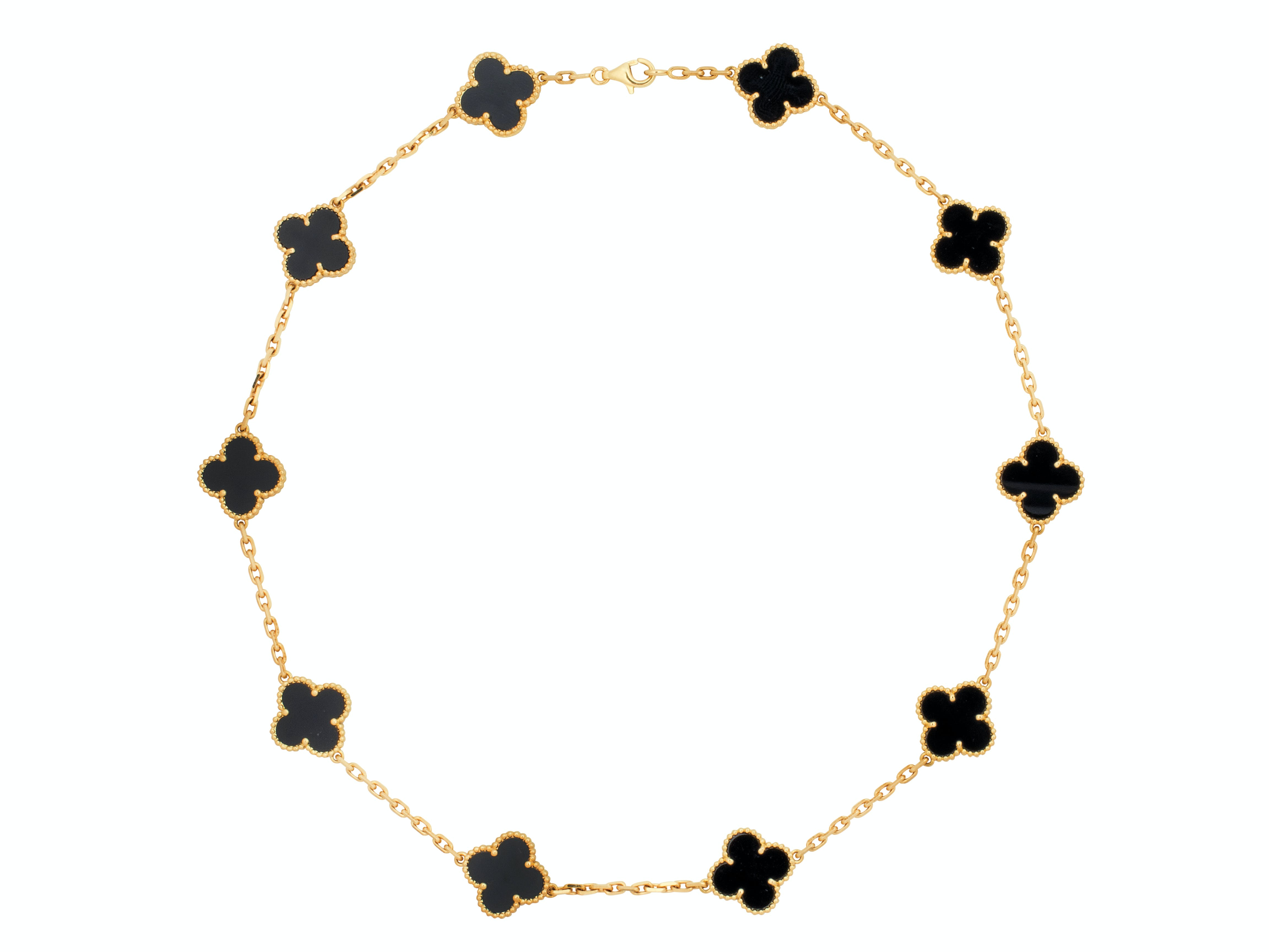 An Onyx and Gold 'Alhambra' Necklace, Van Cleef & Arpels, circa 2014