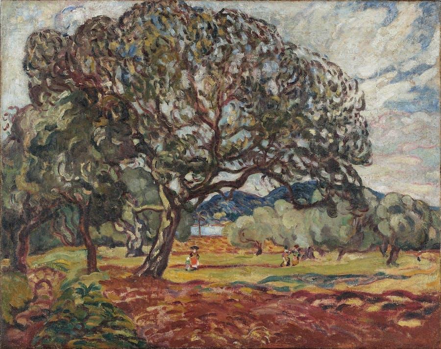 Louis Valtat, Devant la baie d'Agay, circa 1907, huile sur toile (petite restauration), image © Rossini