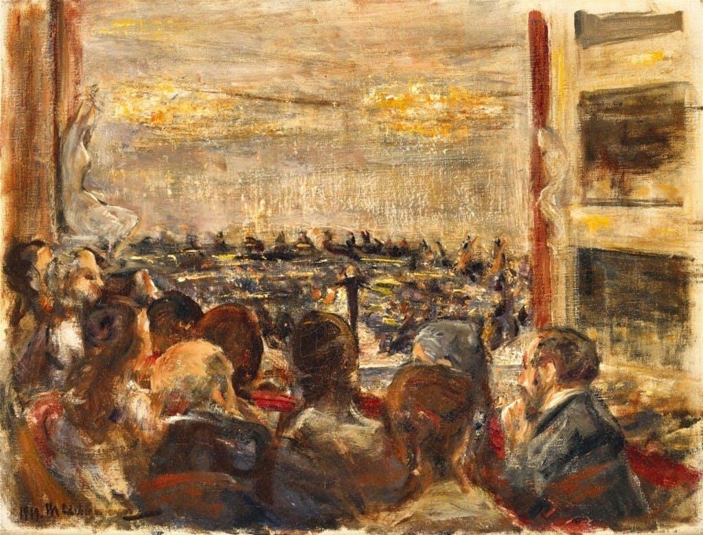 MAX LIEBERMANN (1847 - Berlin - 1935) - Concert à l'opéra, huile, 38.5 x 50.5 cm, signé et daté, 1919 Estimation: 250,000-300,000 EUR