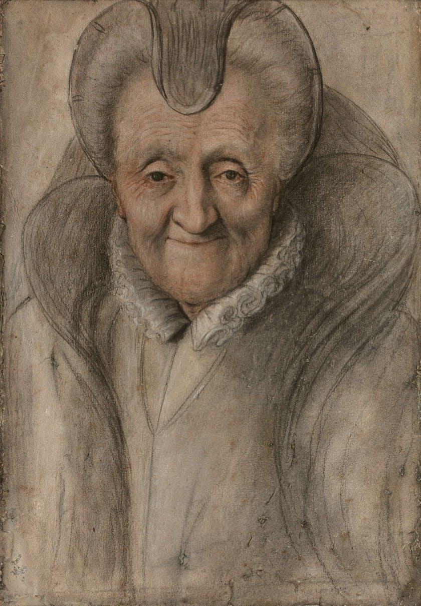 Nicolas Lagneau, Portrait of an Old Woman's Face. Image: Artcurial