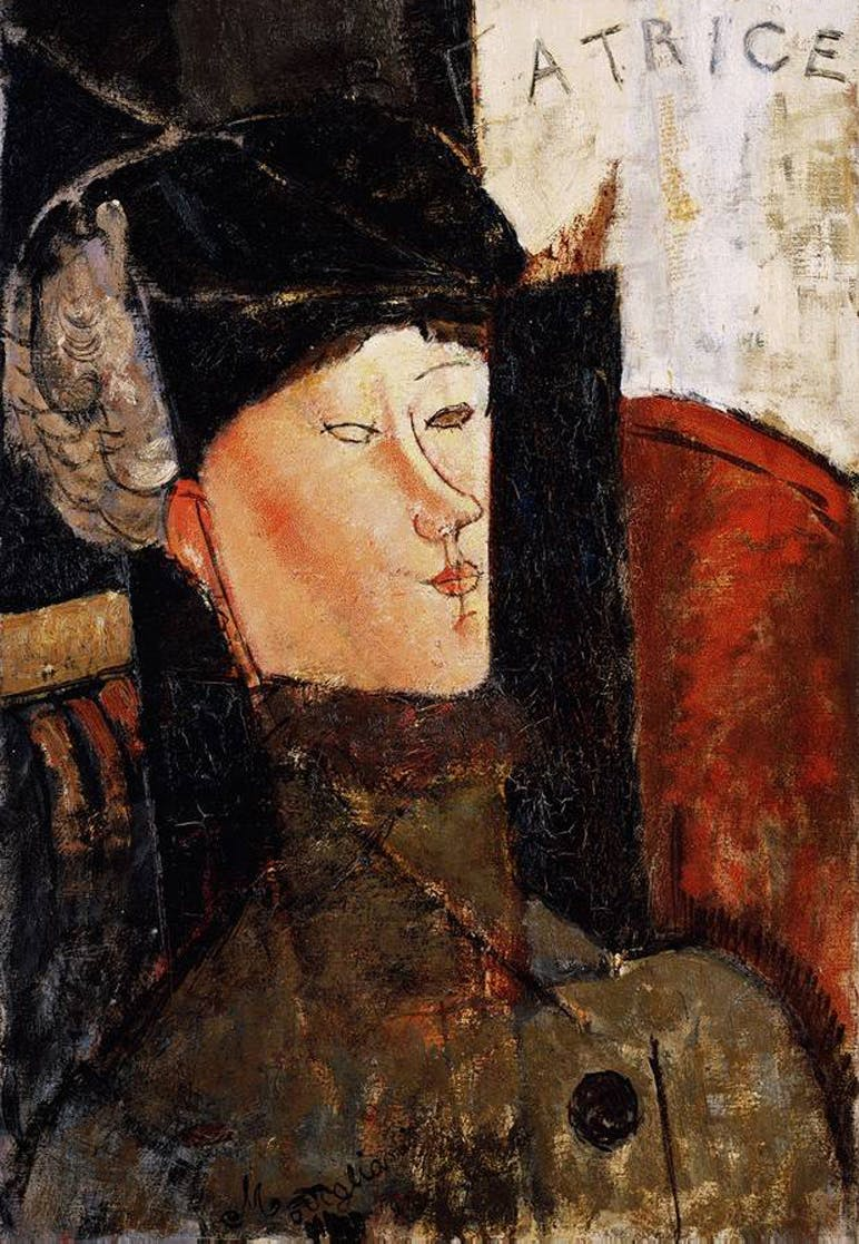 Amedeo Modigliani (1884-1920), Portrait of Beatrice Hastings, Oil on wood., 1915 | Photo via Wikimedia Commons