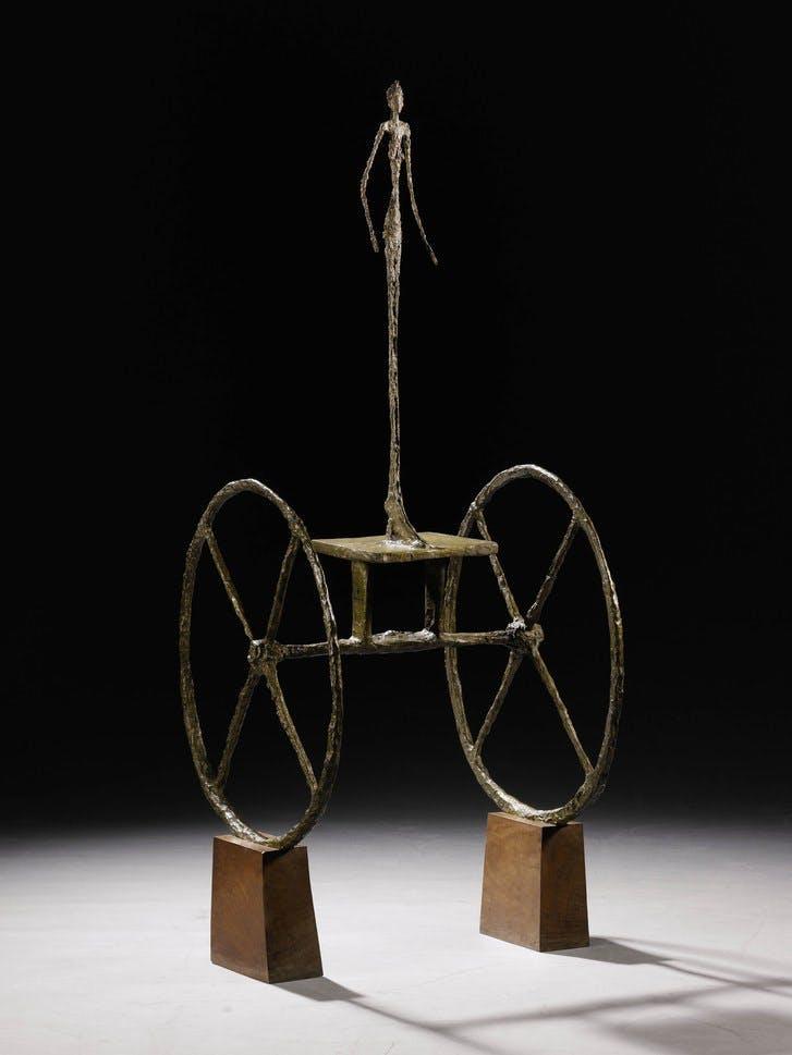 Chariot, Alberto Giacometti. Image: Barnebys.fr