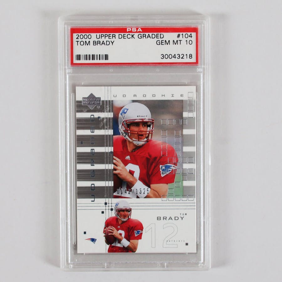 Tom Brady Rookie Card Graded 2000 RC Upper Deck Card – PSA 10 -142 /1325
