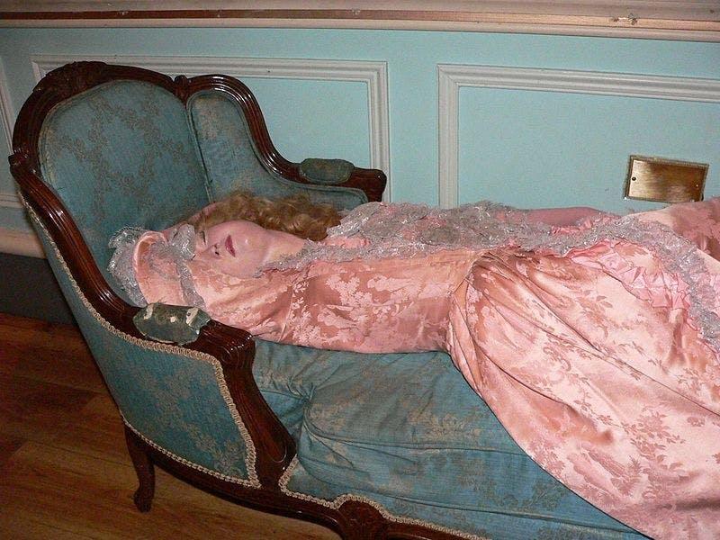 La Belle au bois dormant chez Madame Tussaud à Londres, DR