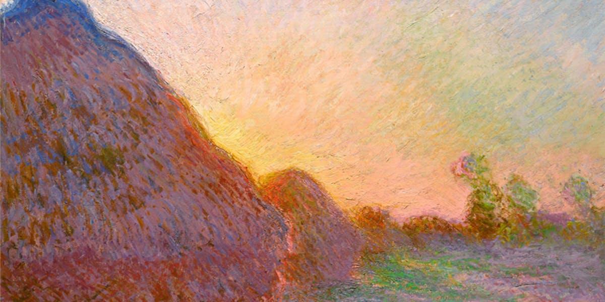 Monet a peint 25 tableaux de la meule de foin...!