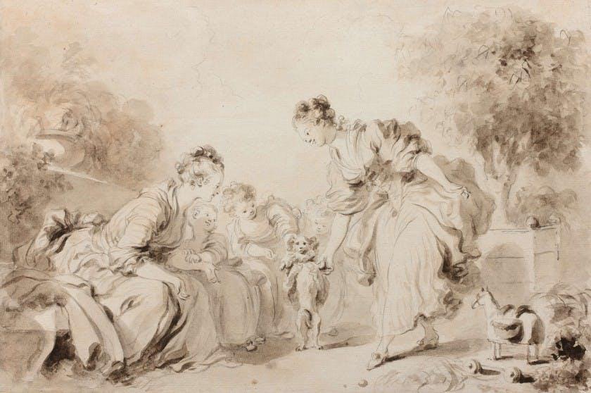 Jean-Honore Fragonard, The Dog's Education. Image: Artcurial