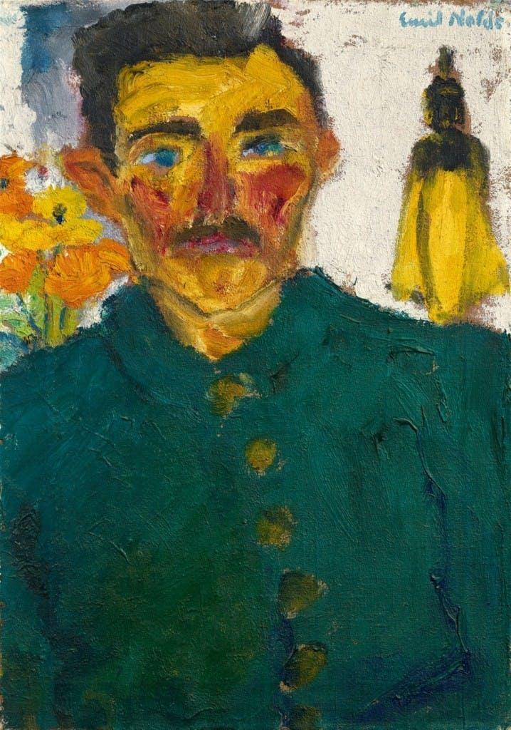Emil Nolde (Nolde à Tondern 1867-1956 Seebüll) -. Le chasseur, huile, 68,5 x 48,5 cm, signé et daté 1918 Estimation: 500,000-600,000 EUR