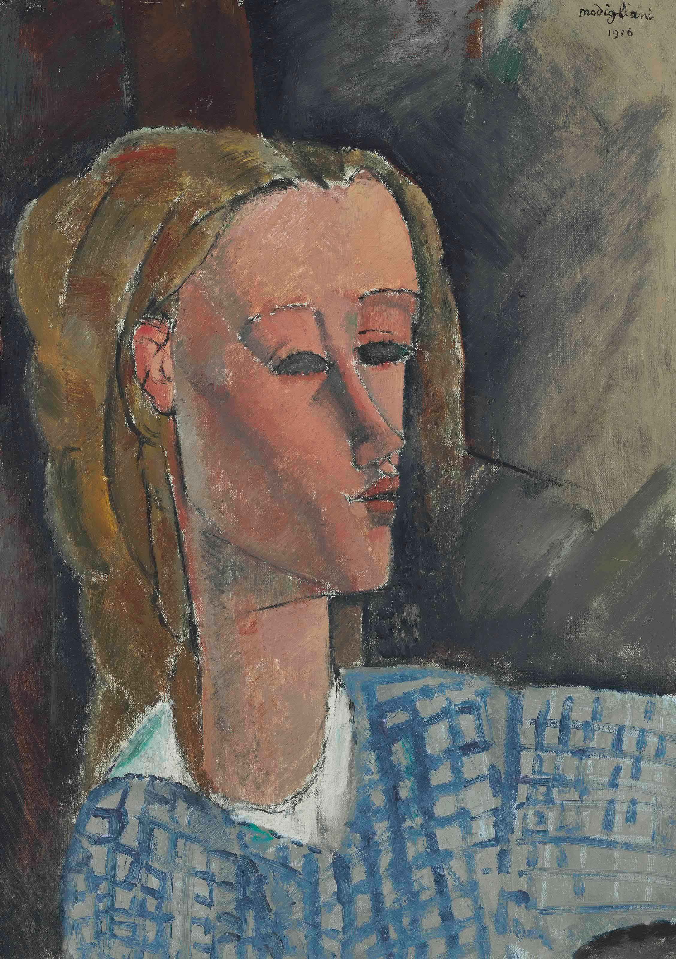 Amedeo Modigliani, Beatrice Hastings, 1916. Image: Christie's