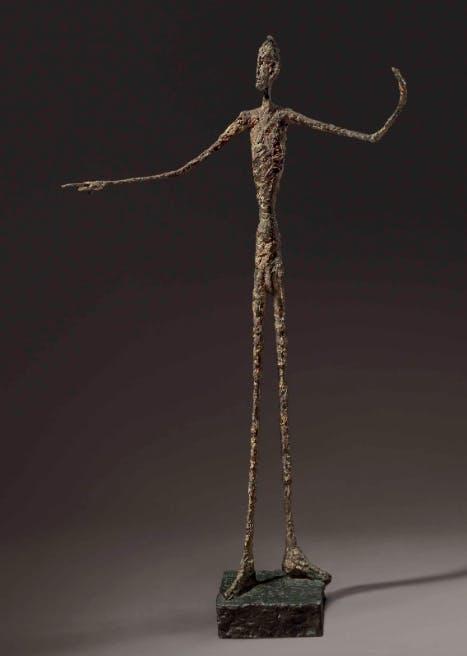 1. The man with the finger, Alberto Giacometti. Image: Barnebys.fr