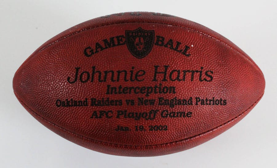 "Tom Brady Game Used Football January 19, 2002 Thrown in Snowy ""Tuck Rule Game"" Patriots vs. Raiders (Raiders LOA)"