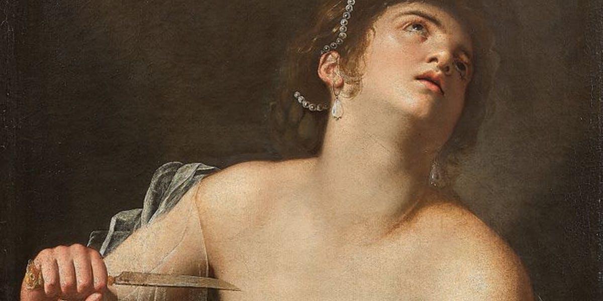 Artemisia Gentileschi, Lucretia. Image: Artcurial