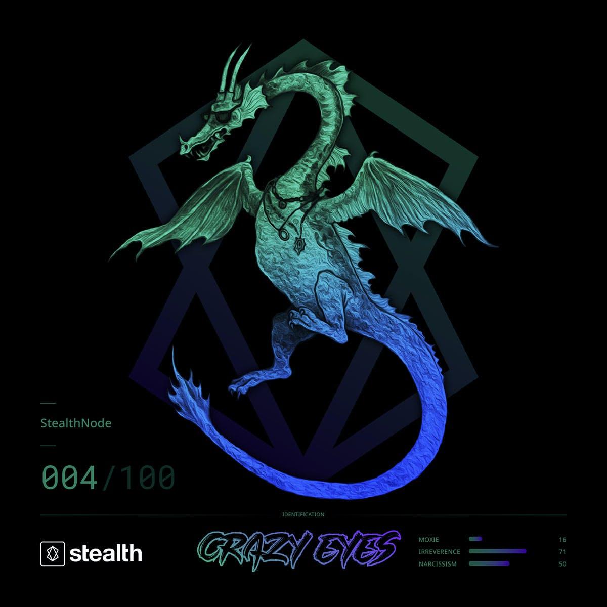 Stealth Dragon NFT - Crazy Eyes