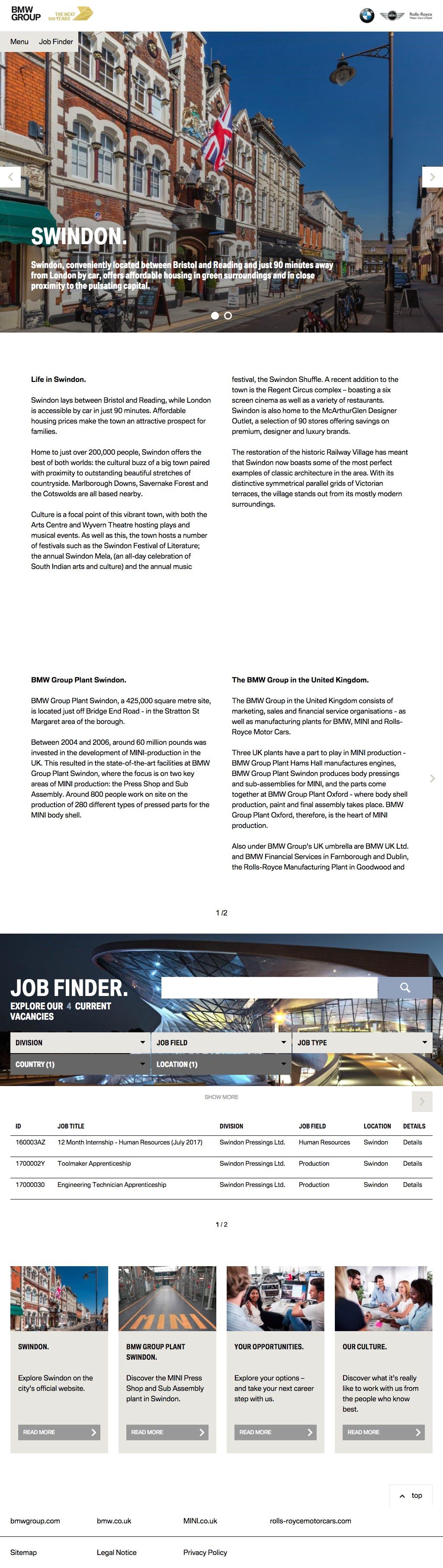BMW Career Portal City 1024