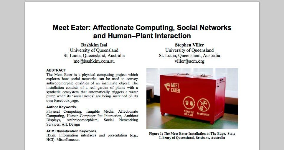 Meet Eater ACM Publication