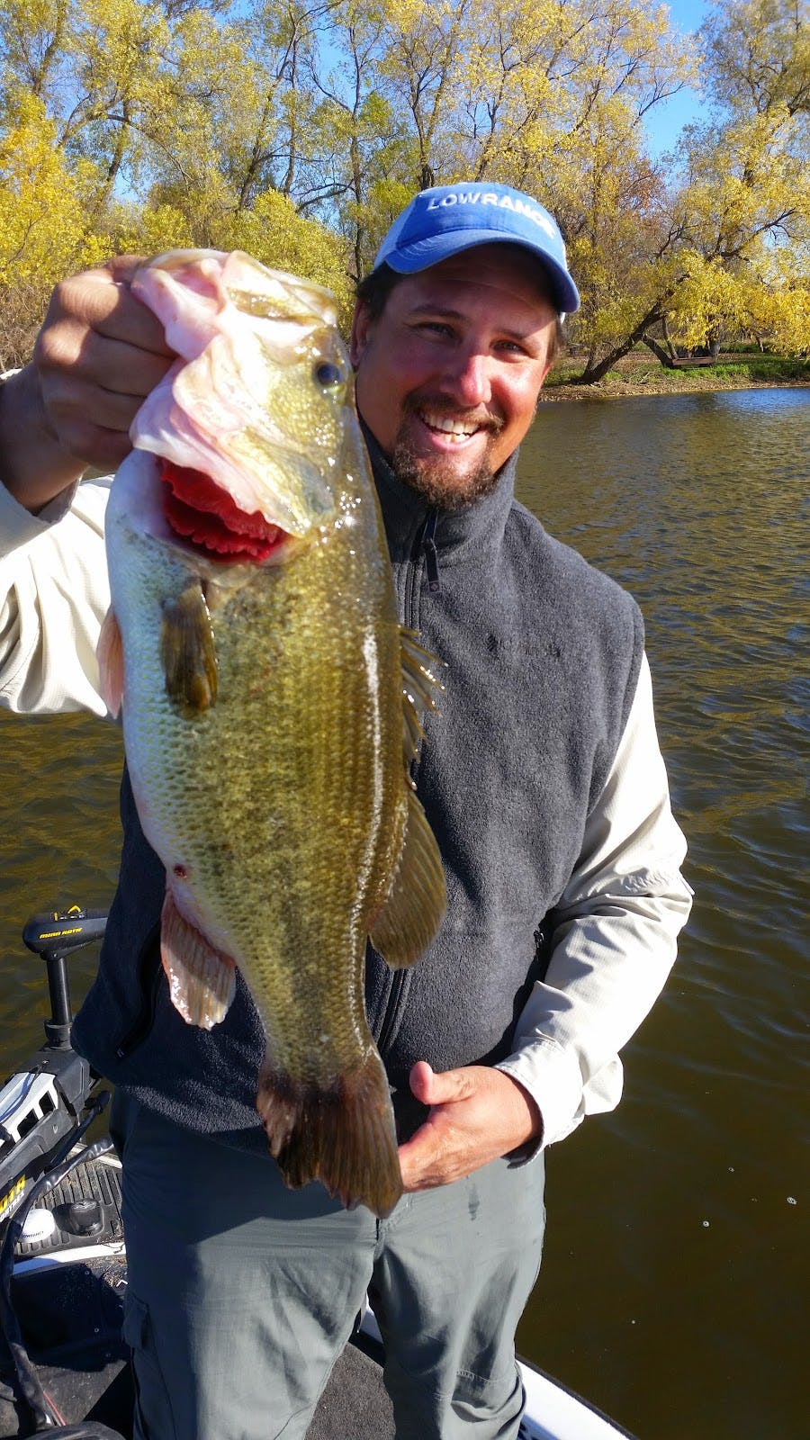 Greg Huff proudly displays his new personal best, a seven pound fall beast!