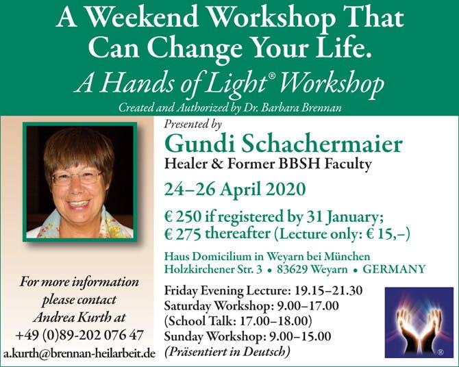 Hands of Light Workshop in Weyarn, Germany