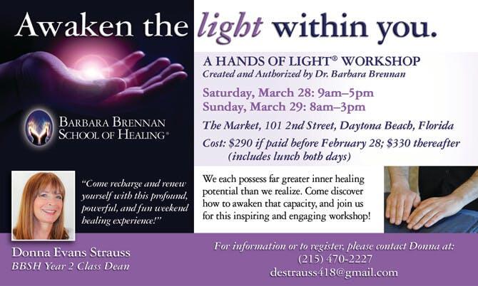 Hands of Light Workshop in Daytona Beach, Florida
