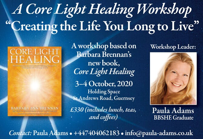 Core Light Healing Workshop in Guernsey, Channel Islands