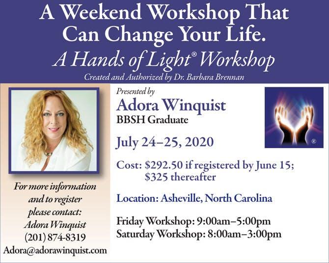 Hands of Light Workshop in Asheville, North Carolina