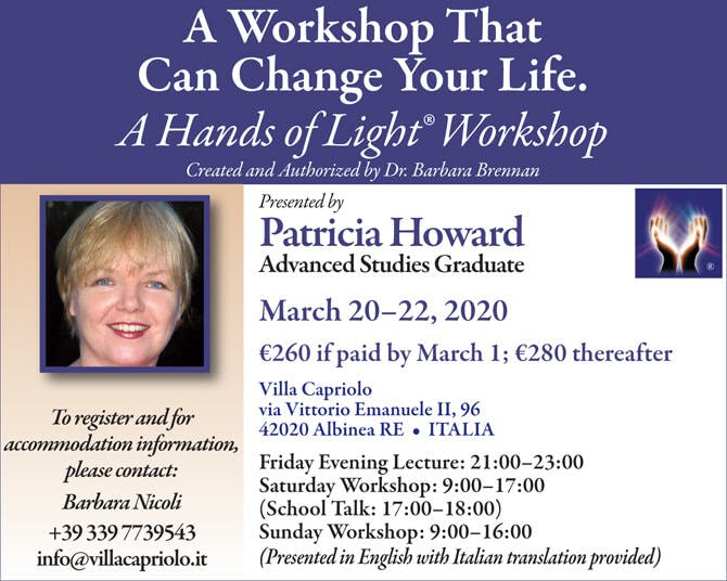 Hands of Light Workshop in Albinea (RE), Italy