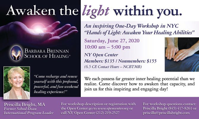 Hands of Light Workshop at the New York Open Center, New York City
