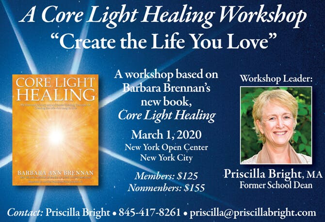 Core Light Healing Workshop at the New York Open Center, New York City