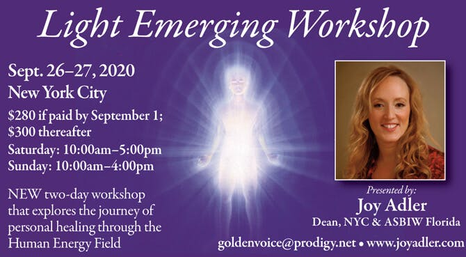 Light Emerging Workshop at the Balance Arts Center in New York City