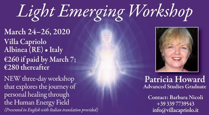 Light Emerging Workshop in Albinea (RE), Italy