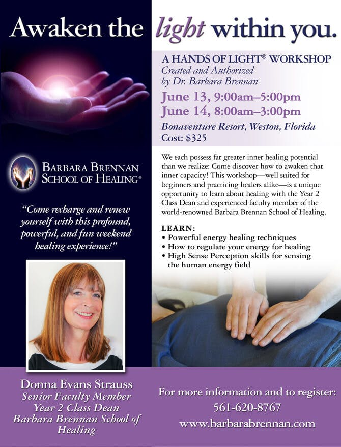 BBSH Hands of Light Workshop in Weston, Florida