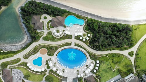 The resort provides two adults-only swimming pools, a children's pool and splash pad play area as well as their signature orchid pool.
