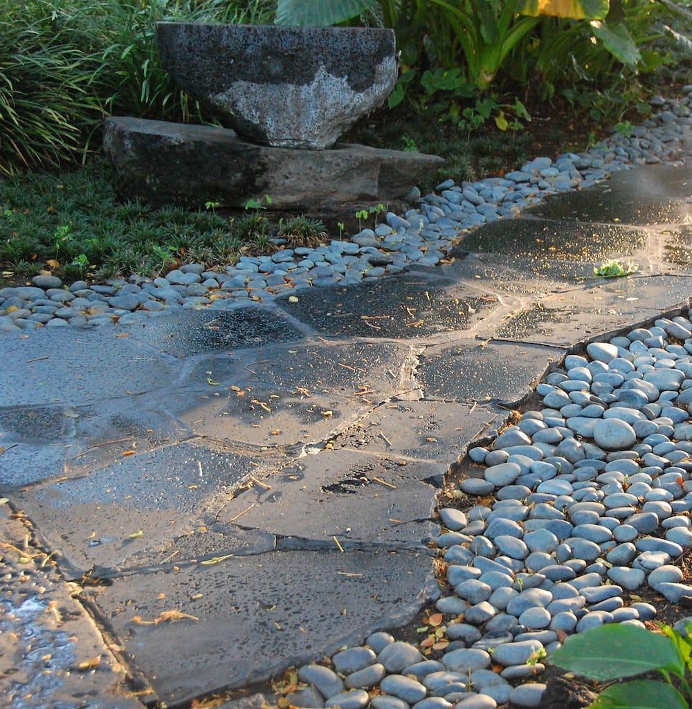 Stone pathway at Resort