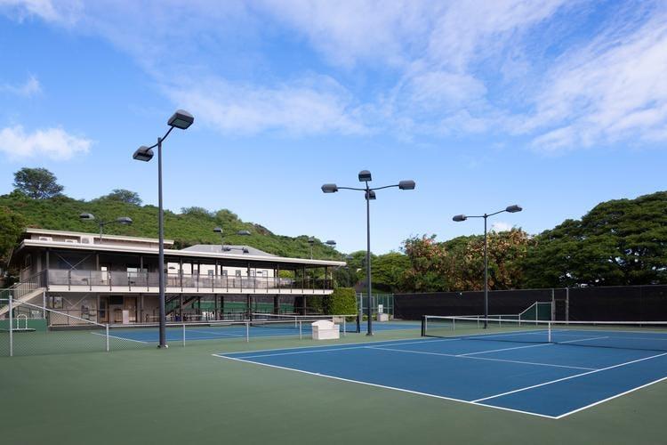 Punahou's tennis courts