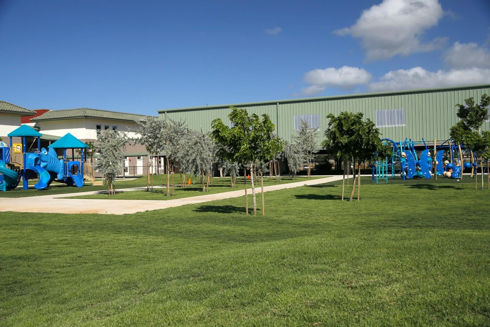 View of outdoor play areas.