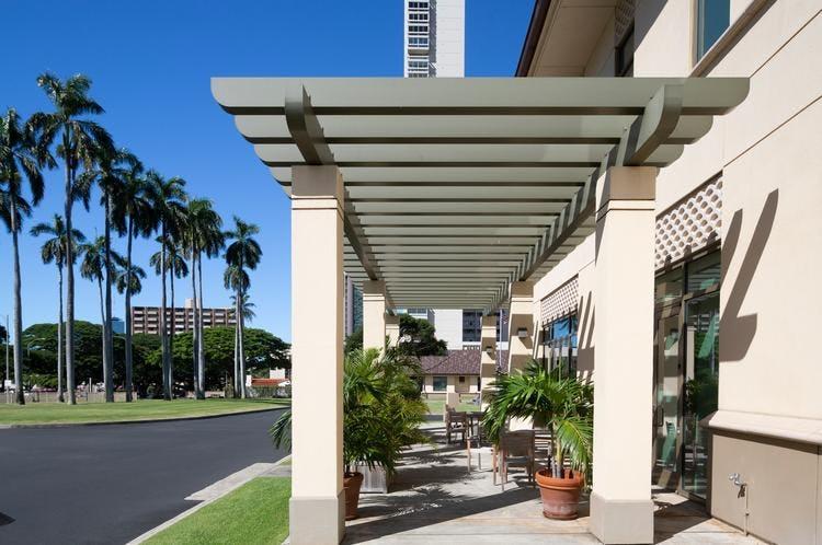 Walkway of Shriners Hospital