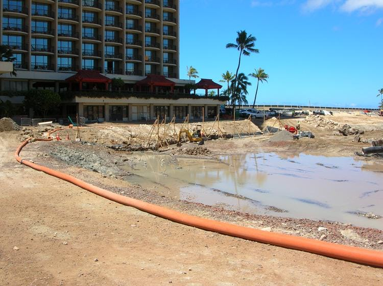 Dredging of the pool