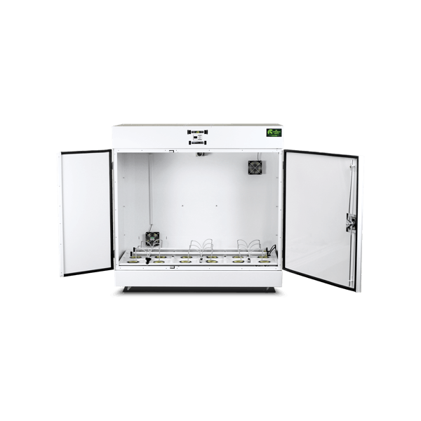 The Producer™ grow box with both doors open