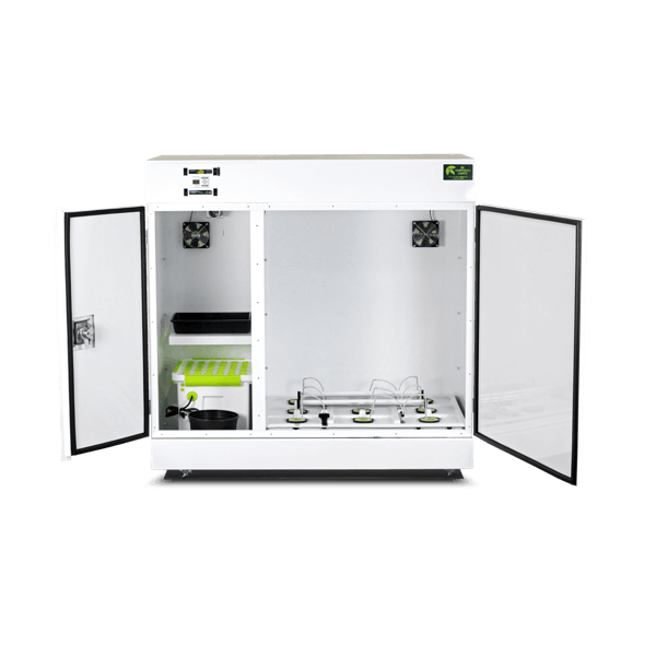 The BloomBox™ grow box with both doors open