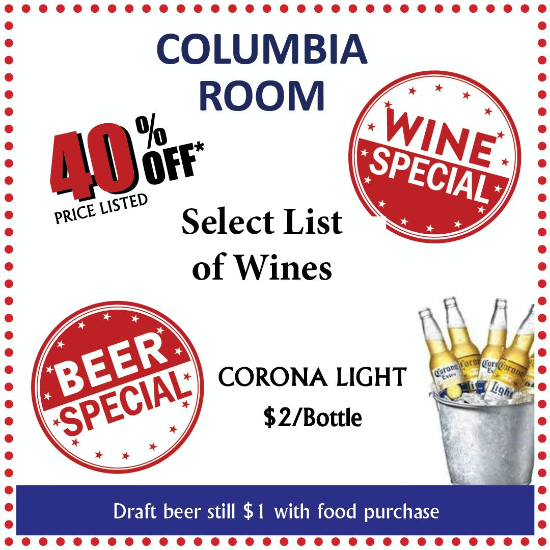 Wine and Beer Specials