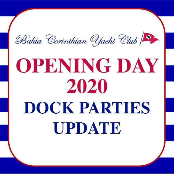 Opening Day 2020 Dock Parties Update