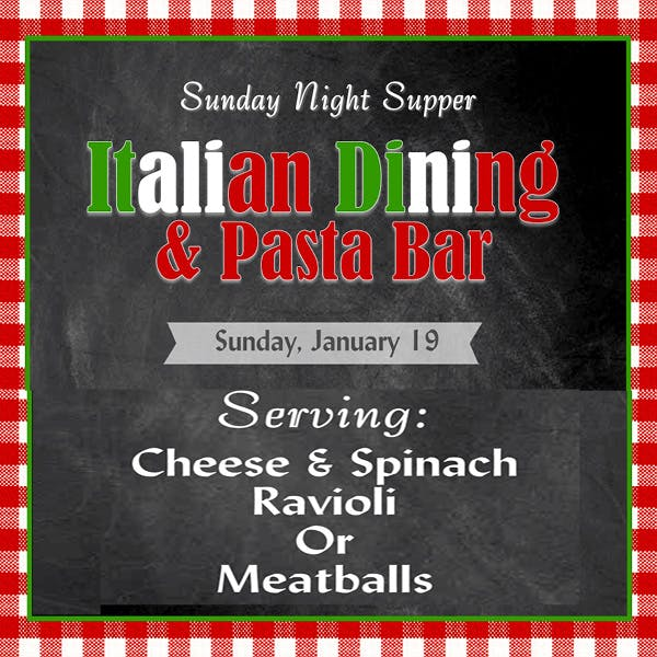 Sunday Supper January 19