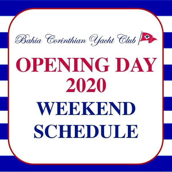 Opening Day 2020 Weekend Schedule