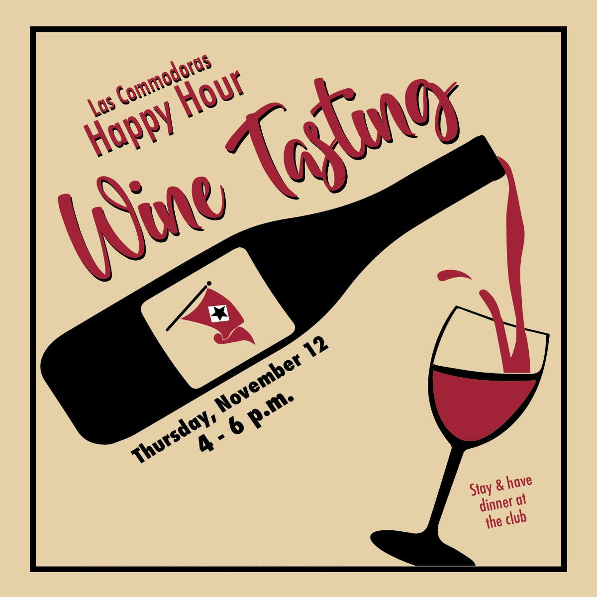Las Commodoras Wine Tasting