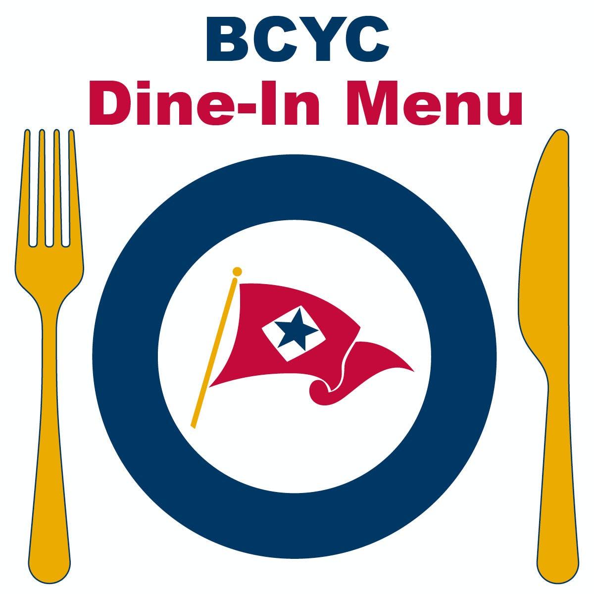BCYC Dine-In Menu
