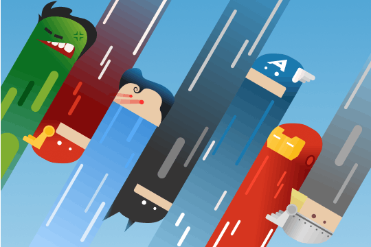 Card thumbnail Super hero