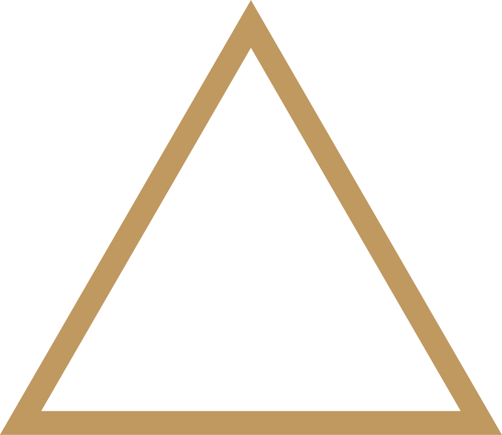 Belltower logo abstract triangle