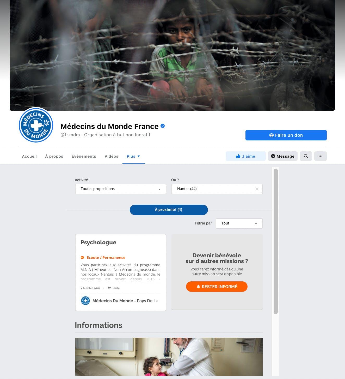 associations nationales offres de bénévolat facebook