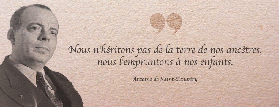 saint exupéry - citration - devise
